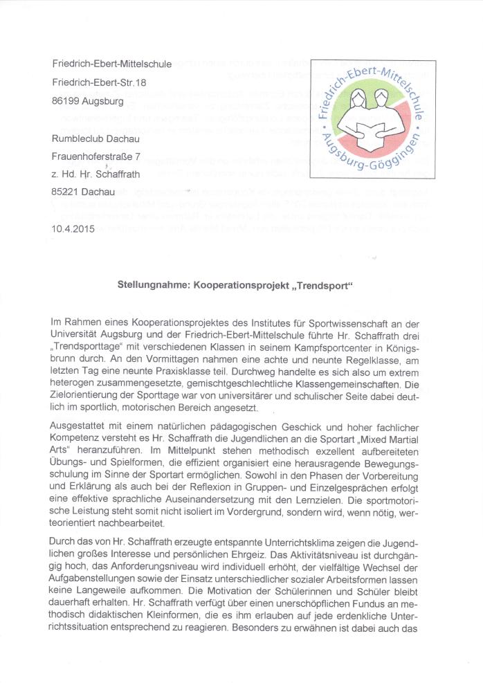 Fachberater für Sport Augsburg 1
