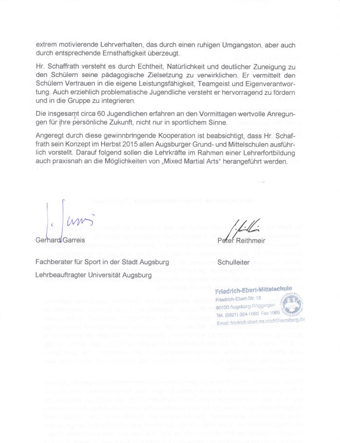 Fachberater für Sport Augsburg 2