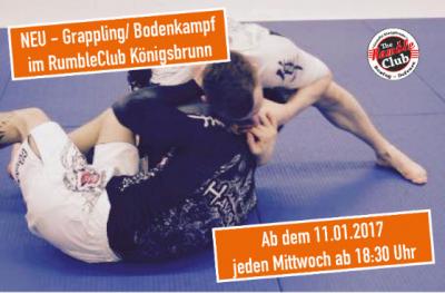 Grappling / Bodenkampf ab sofort im RumbleClub Königsbrunn