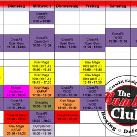 Neuer Trainingsplan RumbleClub Königsbrunn